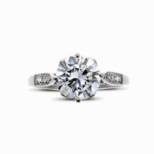 Brilliant Cut Vintage Engagement Ring 1.10ct F SI2 BGI